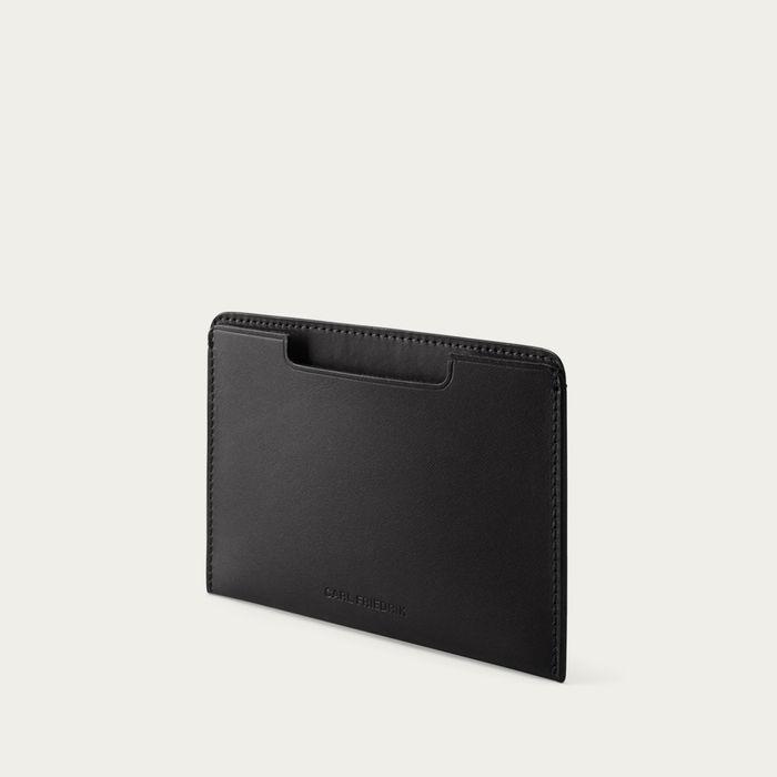 Black Easton Leather Passport Cover | Bombinate