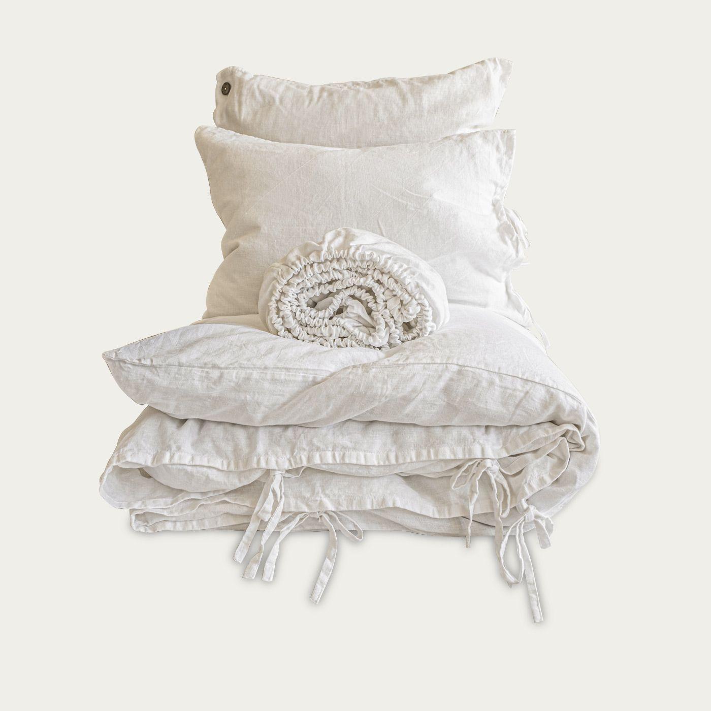 White Tied Hardcore Linen Bedding Bundle | Bombinate
