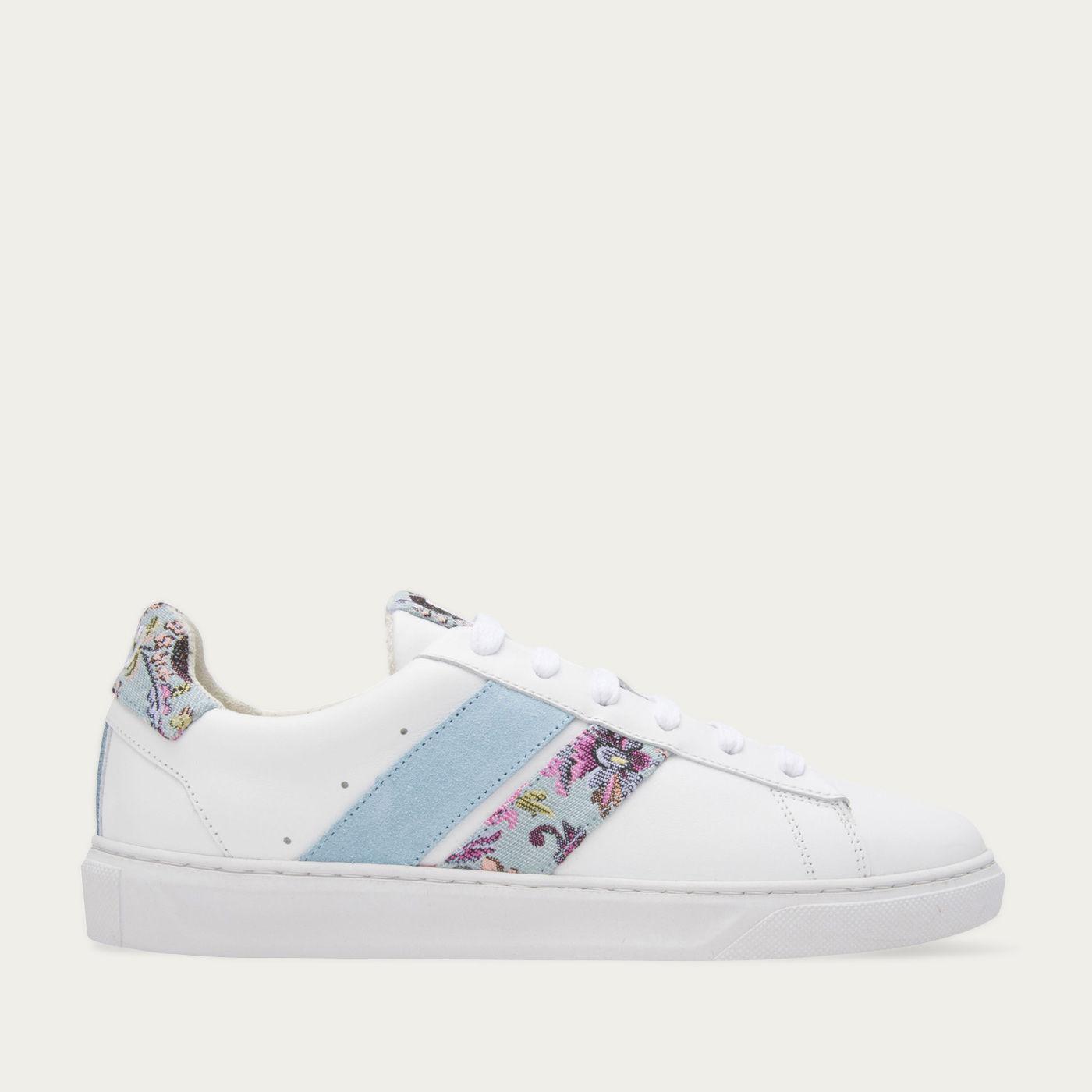 Blue Floral Slash Sneakers | Bombinate