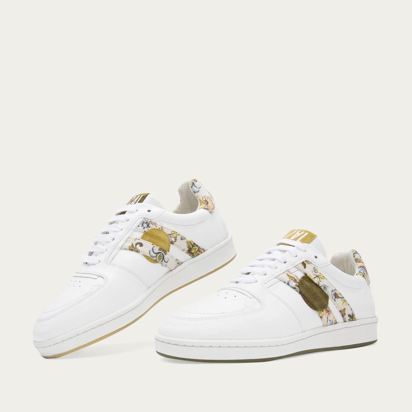 Green Flower Moon Sneakers   Bombinate