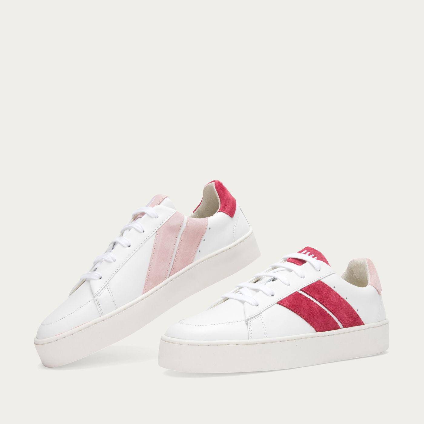 Pink Cherry High Slash Sneakers   Bombinate
