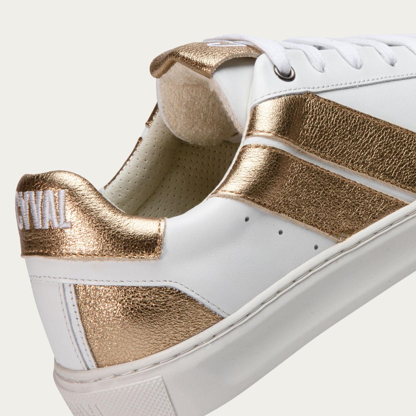 Gold Divine Slash Sneakers   Bombinate