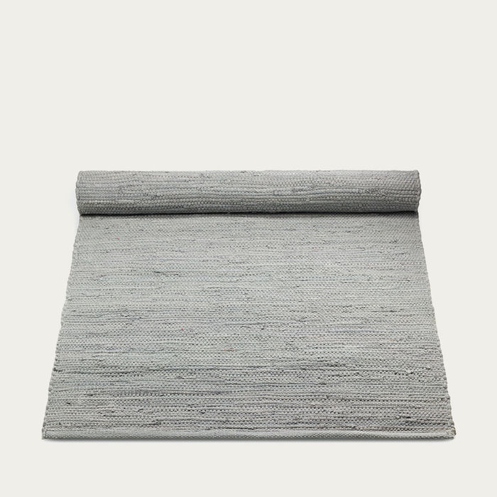 Light Grey Cotton Rug | Bombinate