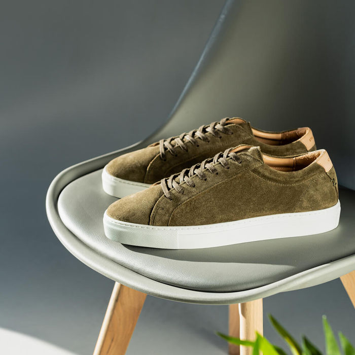 Olive Suede Series 1 Sneakers   Bombinate