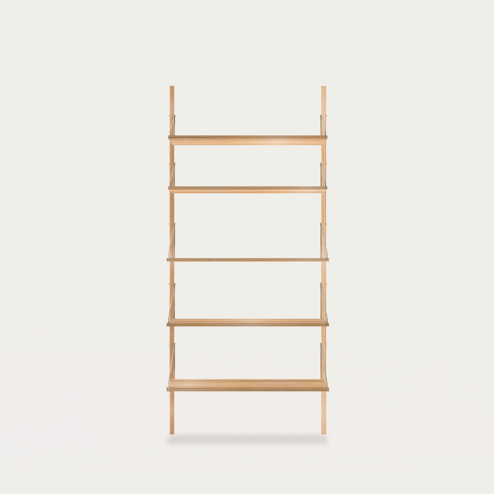 Shelf Library Natural H1852 Single Section | Bombinate
