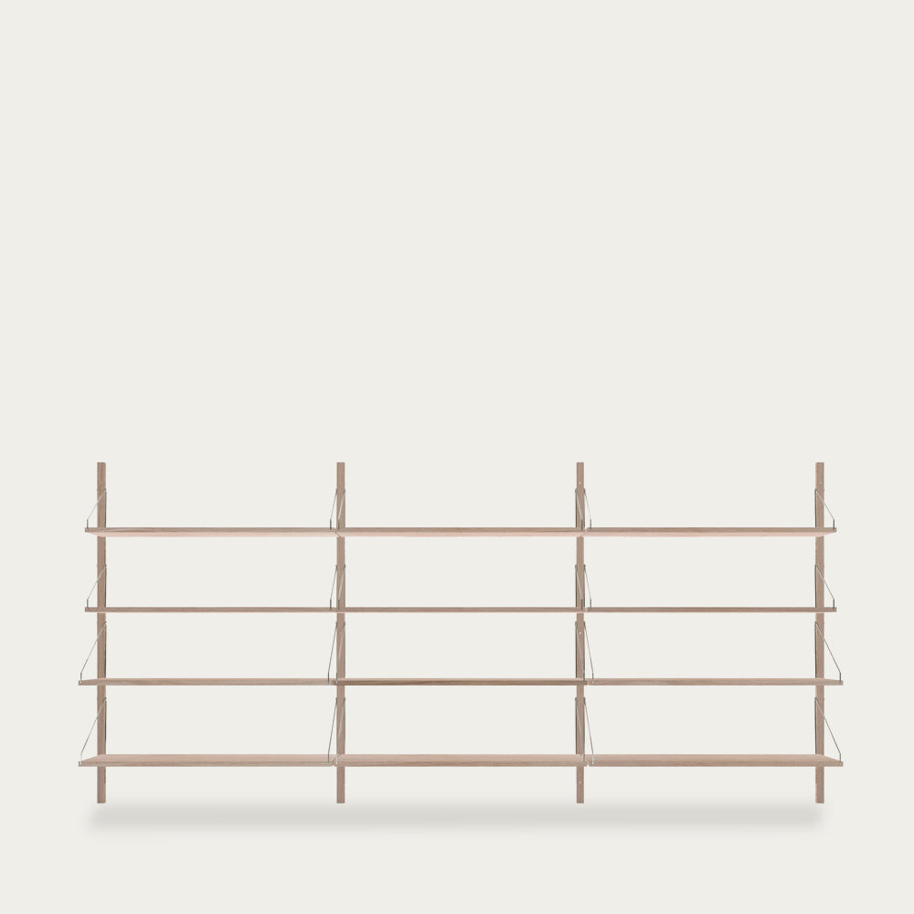 Shelf Library White H1148 Triple Section | Bombinate
