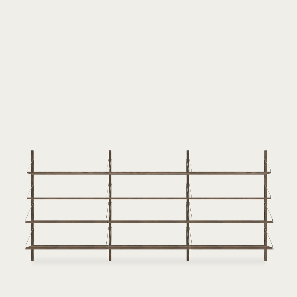Shelf library Dark H1852 Triple Section | Bombinate