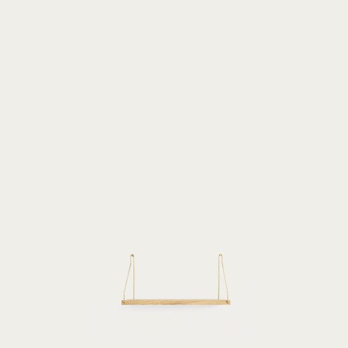 Shelf Natural D20 W40 Brass Brackets | Bombinate