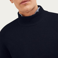 Blue Navy The High-Neck Sweater | Bombinate