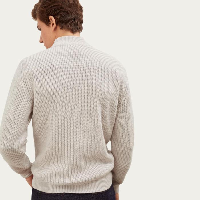 Cream The High-Neck Sweater | Bombinate