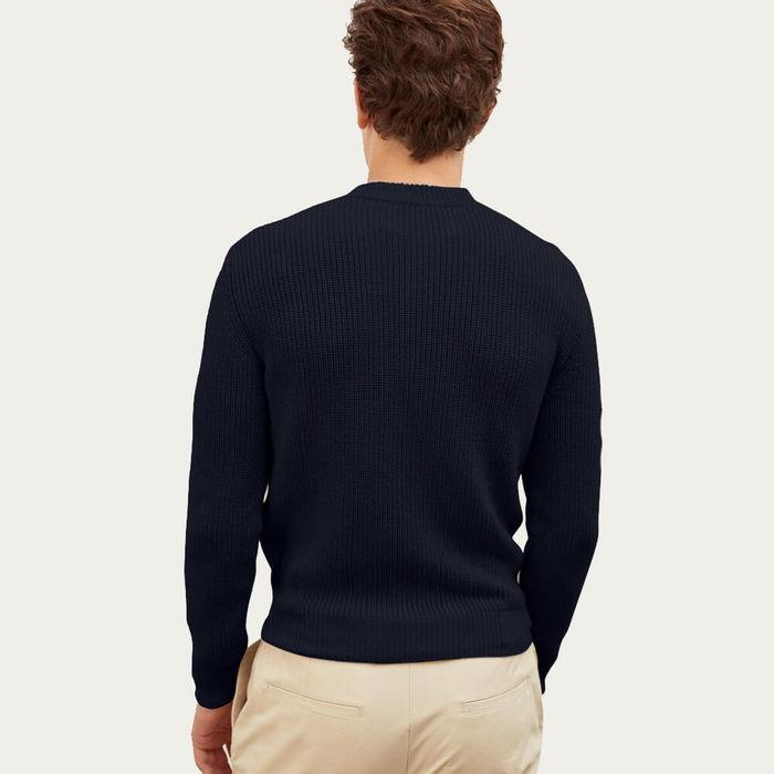 Blue Navy The Perkins Sweater | Bombinate