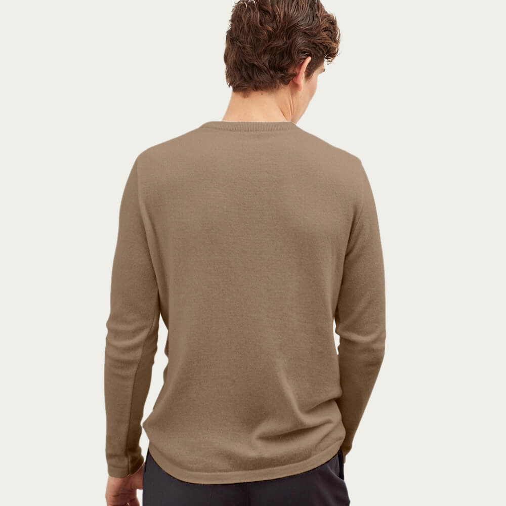 Brown The Round-Neck Cashmere | Bombinate