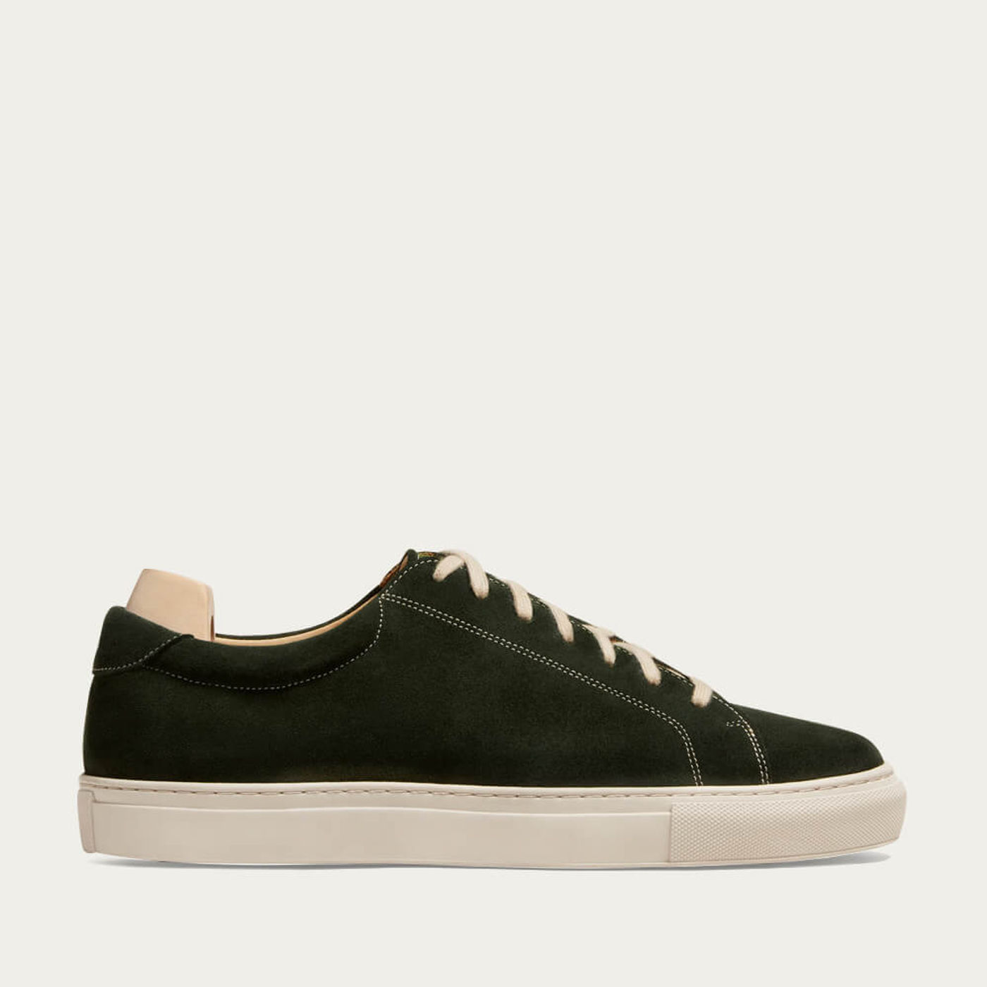Dark Green Yxlö Suede Sneakers   Bombinate