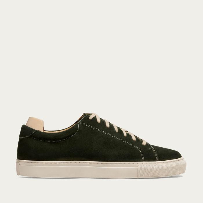 Dark Green Yxlö Suede Sneakers | Bombinate