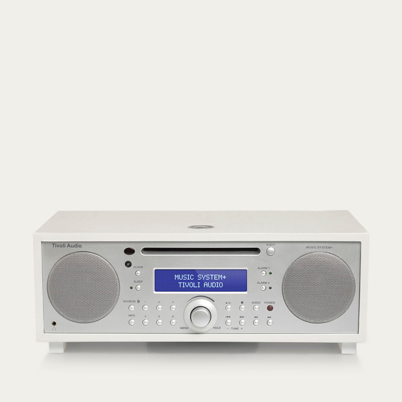 Piano White and Silver Music System+    Bombinate