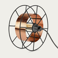 Black Floor Lamp Spool Deluxe Copper | Bombinate