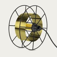 Black Spool Deluxe Brass Floor Lamp   Bombinate