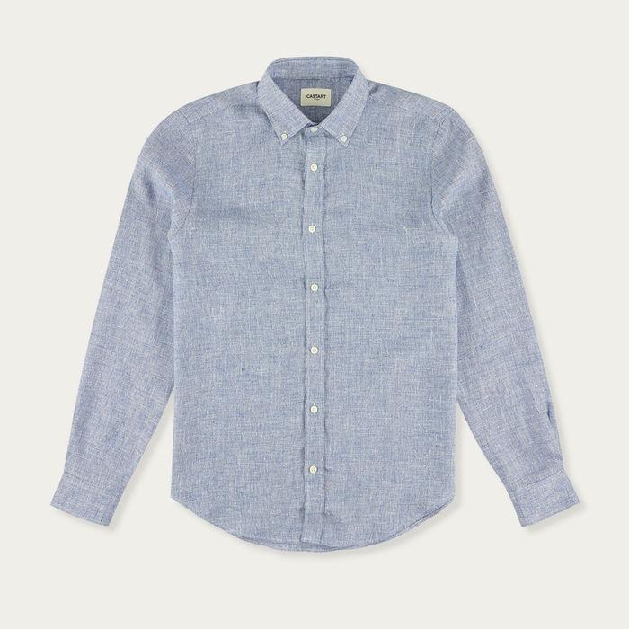 Mid Blue Devilshead Long Sleeve Shirt | Bombinate