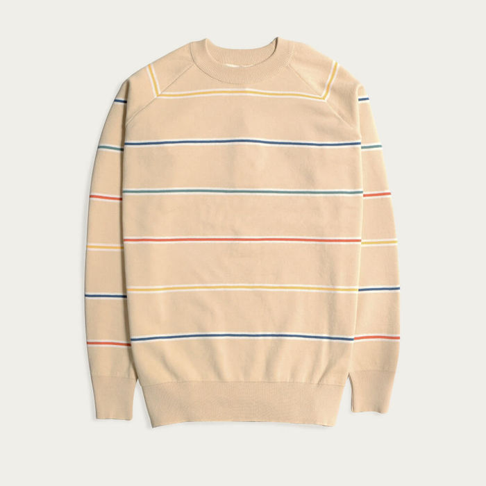 Lambs White Cotton Raglan Knit | Bombinate