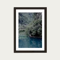 The Path Under Trees Art Print Black Frame   Bombinate