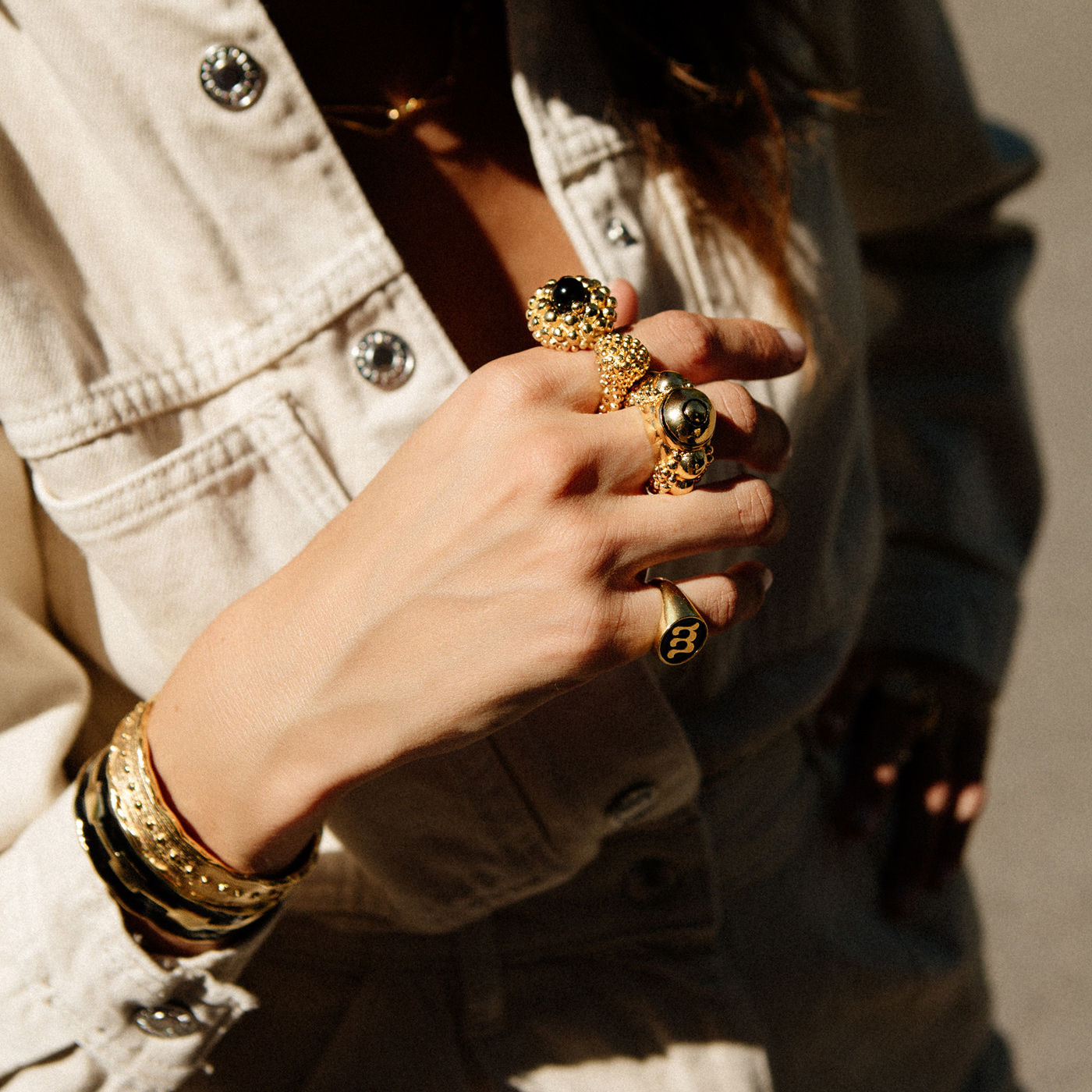 Gold Karpos Ring | Bombinate