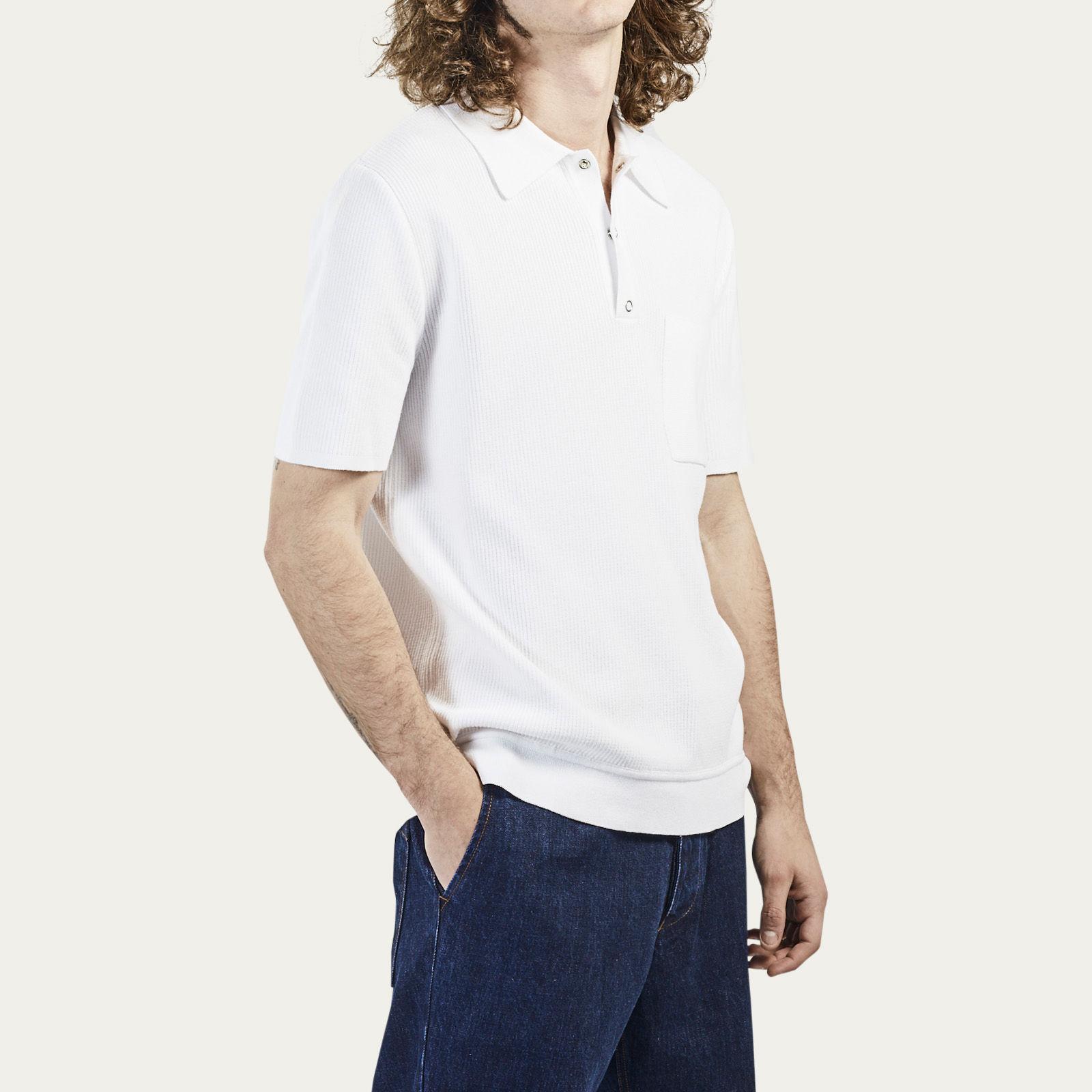 Big Sur White Polo Shirt | Bombinate