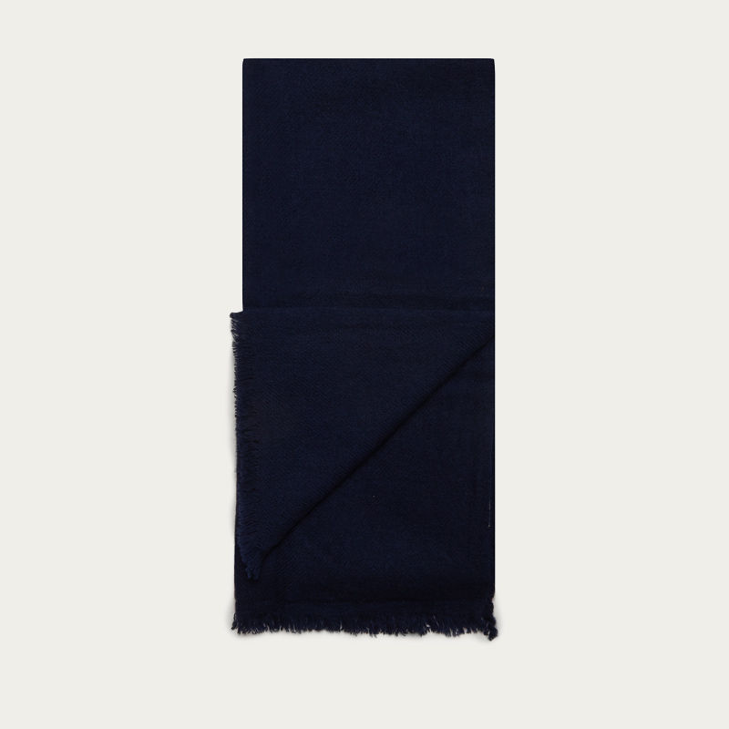 Navy Plain Oxford Scarf   | Bombinate