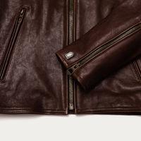 Café Racer Brown Leather Jacket | Bombinate
