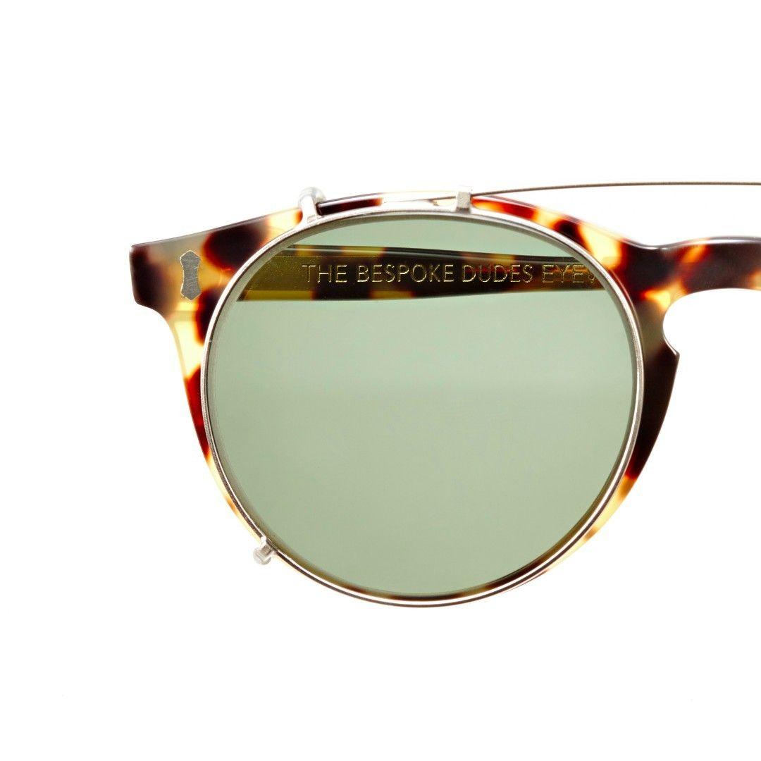 Light Tortoise / Bottle Green Lenses Pleat Sunglasses | Bombinate