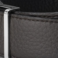 Ebony and Black Reversible Belt with The Reversible Brushed Palladium Buckle | Bombinate