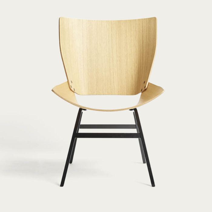 Natural Oak Shell Lounge Chair | Bombinate