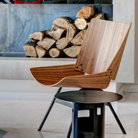 Natural Walnut Shell Lounge Chair | Bombinate