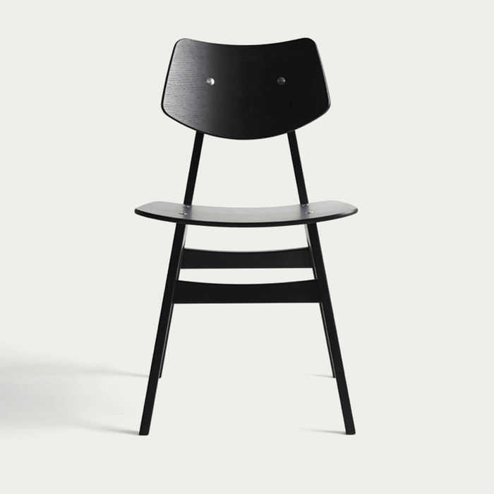 Black 1960 Wood Chair | Bombinate