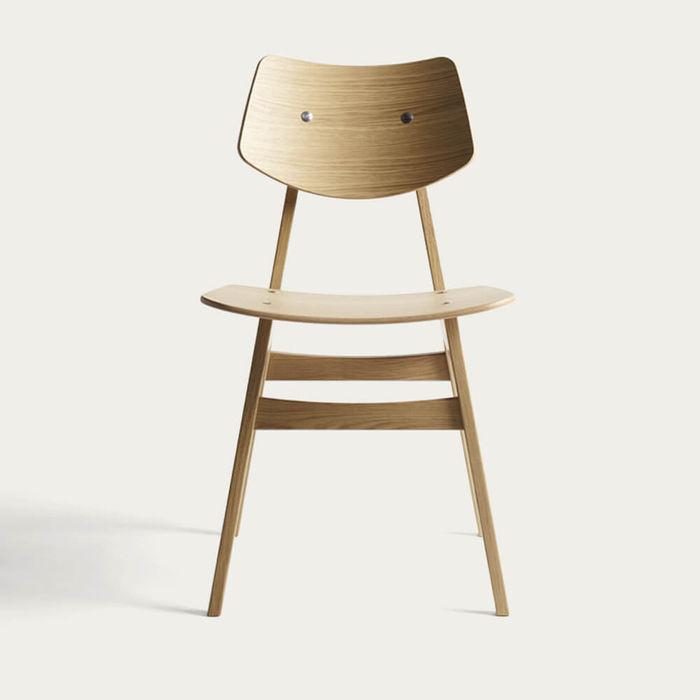 Natural Oak 1960 Wood Chair   Bombinate