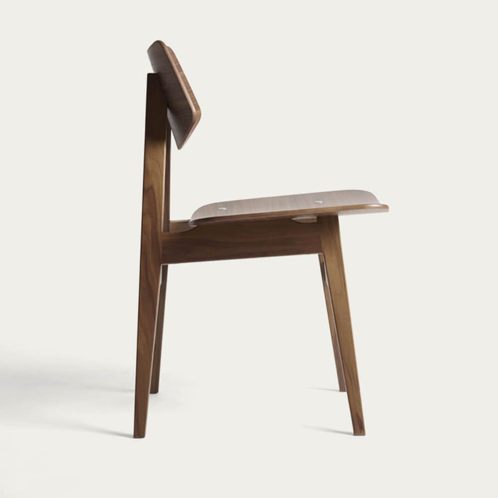 Natural Walnut 1960 Wood Chair | Bombinate