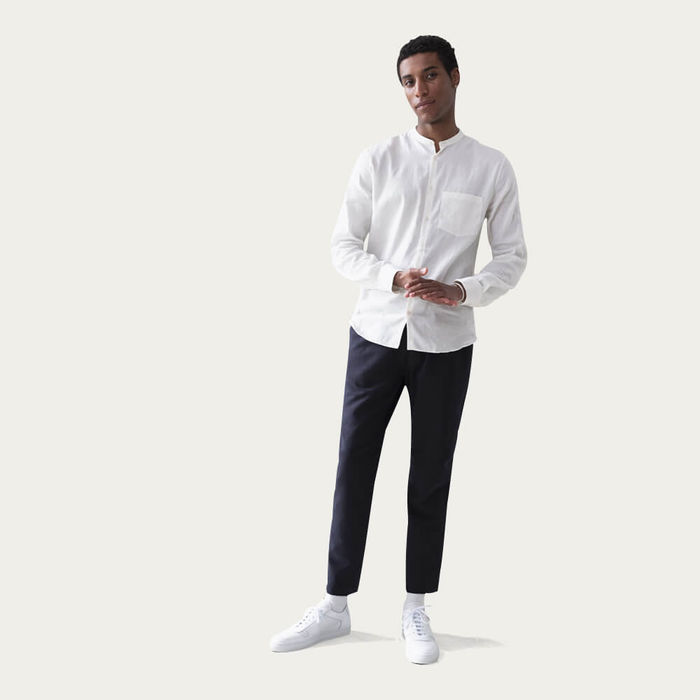 Navy The 24 Trousers Linen | Bombinate