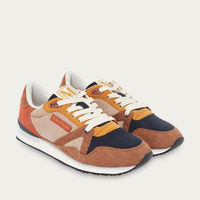 Beige and Brown Corduroy André Running Shoes   Bombinate