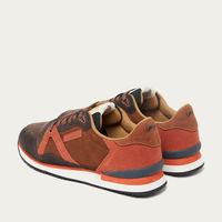 Brown and Cognac Suede André Running Shoes | Bombinate