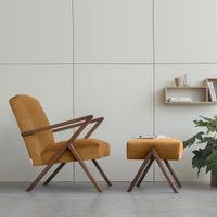 Orange Retrostar Chair Premium Velvet Line | Bombinate
