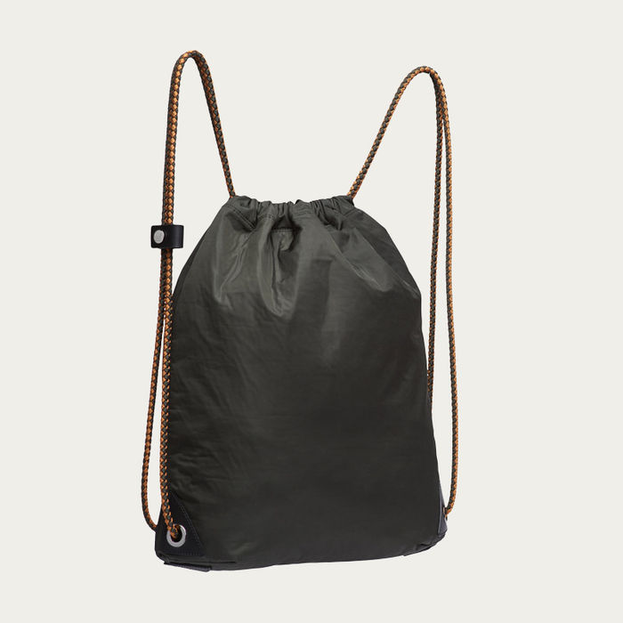 Beluga & Black/Black M/S Drawstring Backpack | Bombinate