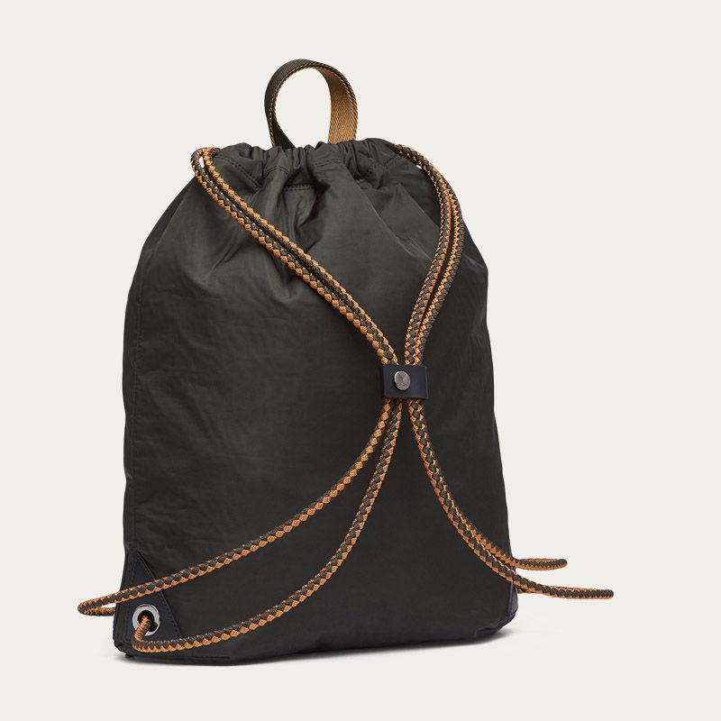 Beluga & Black/Black M/S Drawstring Backpack | Bombinate