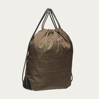 Golden Camel & Black/Black M/S Drawstring Backpack | Bombinate