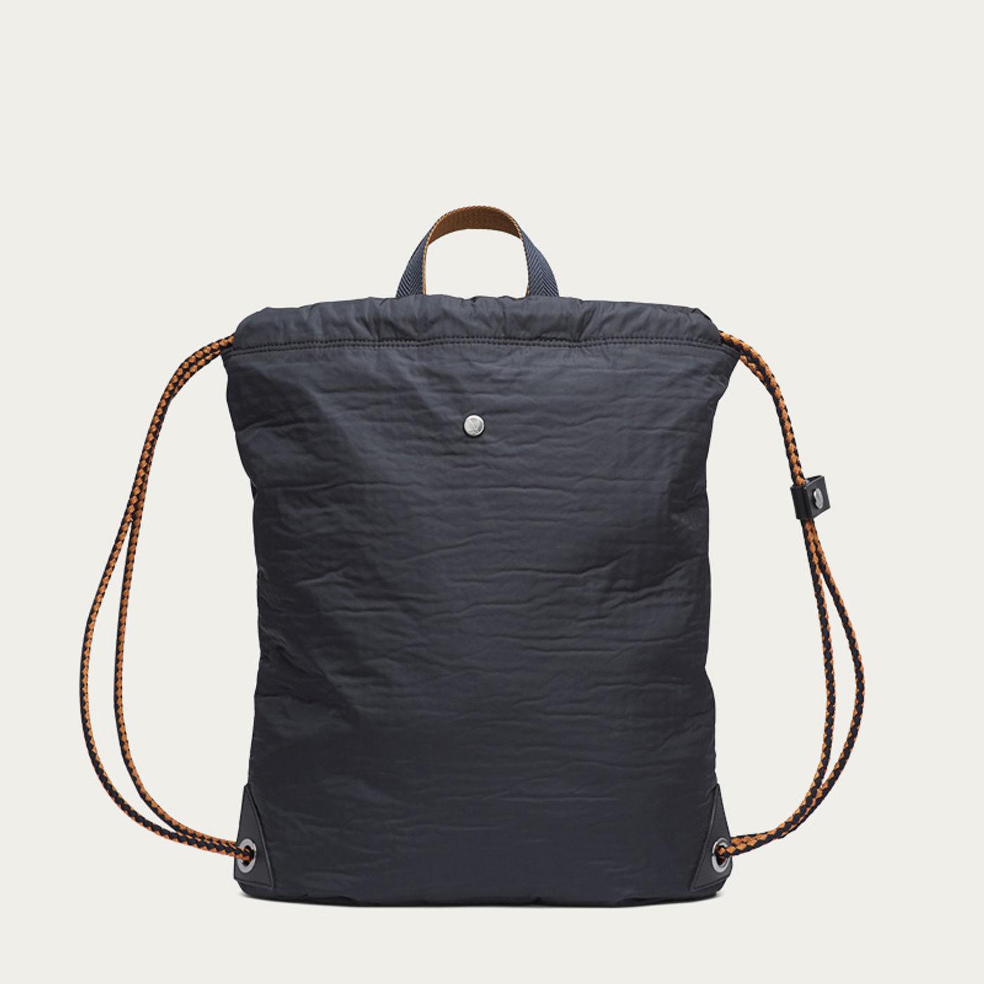 Moonlight Blue & Black/Black M/S Drawstring Backpack | Bombinate
