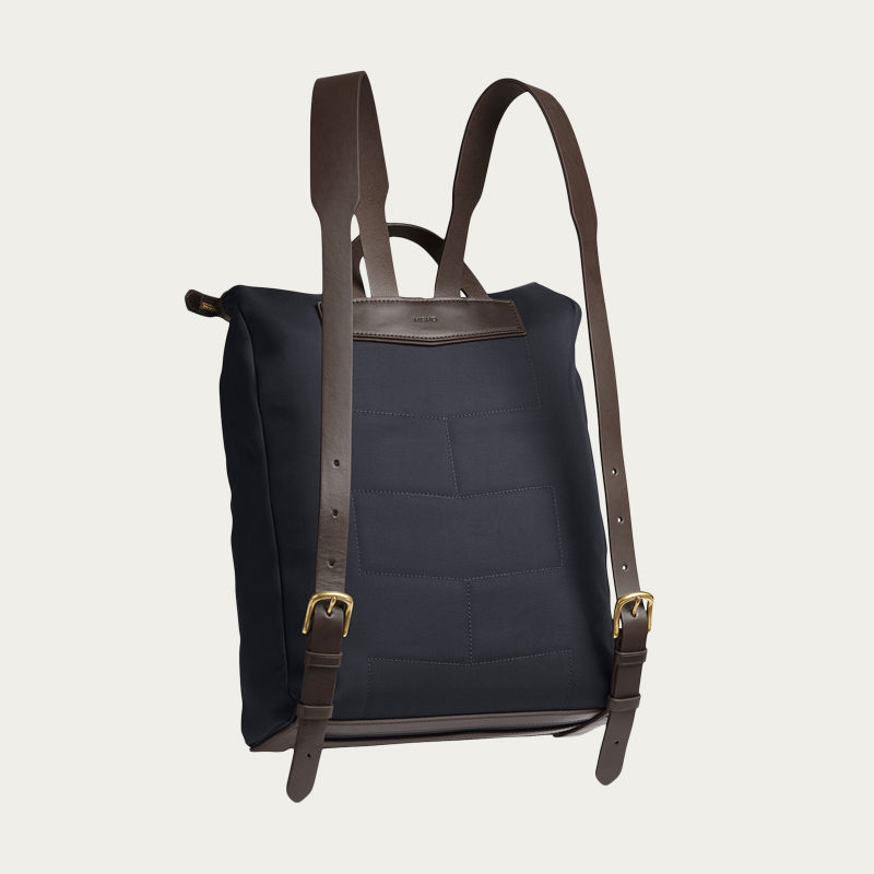 Navy/Dark Brown M/S Express Backpack 1