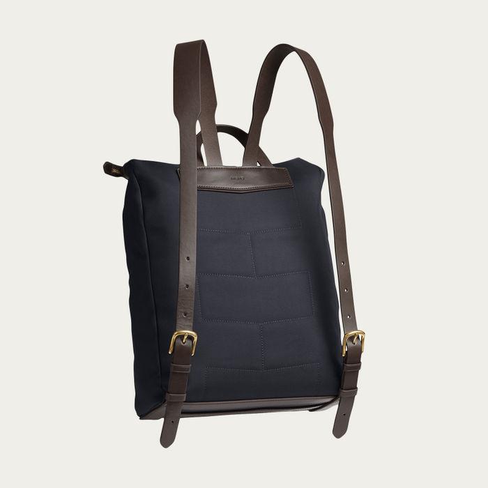 Navy/Dark Brown M/S Express Backpack   Bombinate