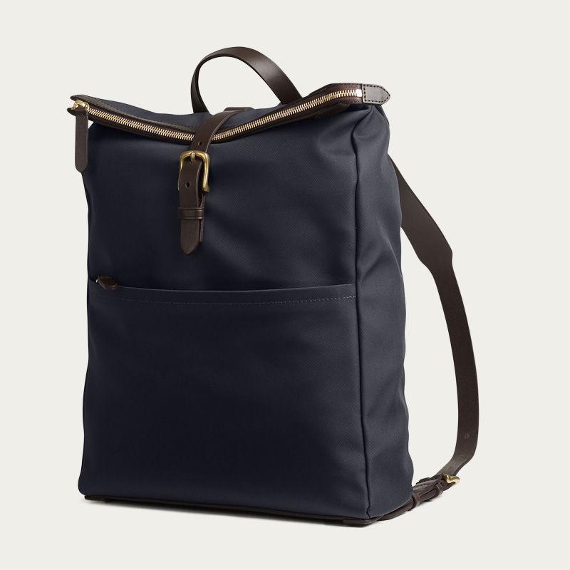 Navy/Dark Brown M/S Express Backpack | Bombinate