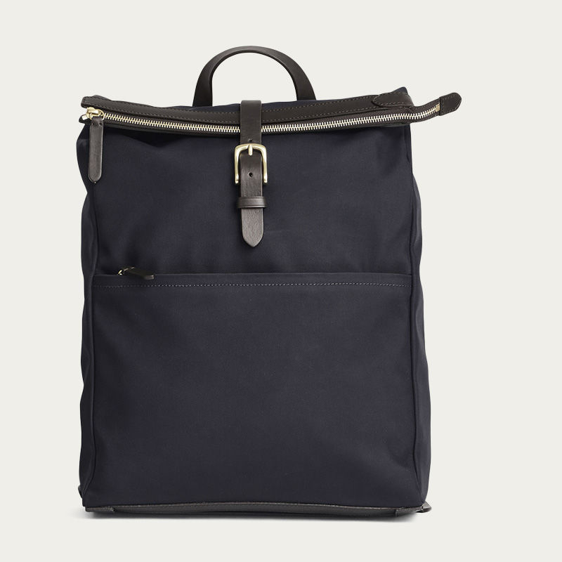 Navy/Dark Brown M/S Express Backpack 0