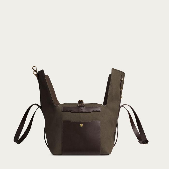 Army /Dark Brown M/S Supply Travel Bag | Bombinate