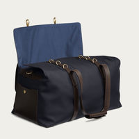 Navy/Dark Brown M/S Supply Travel Bag | Bombinate