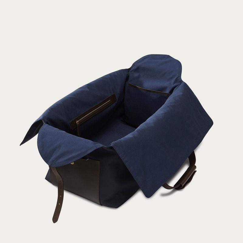 Navy/Dark Brown M/S Supply Travel Bag | Bombinate